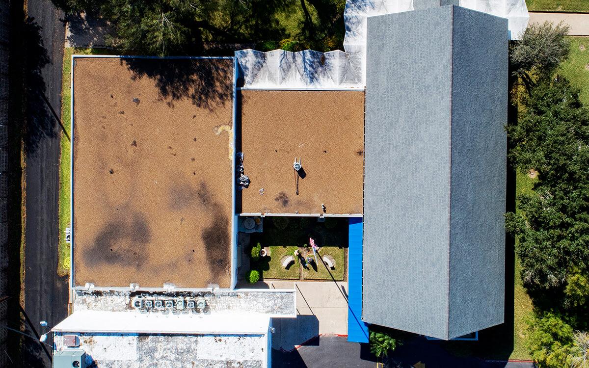 Commercial PVC Roof Durolast Durotuff Membrane Installation - San Antonio, TX - 06