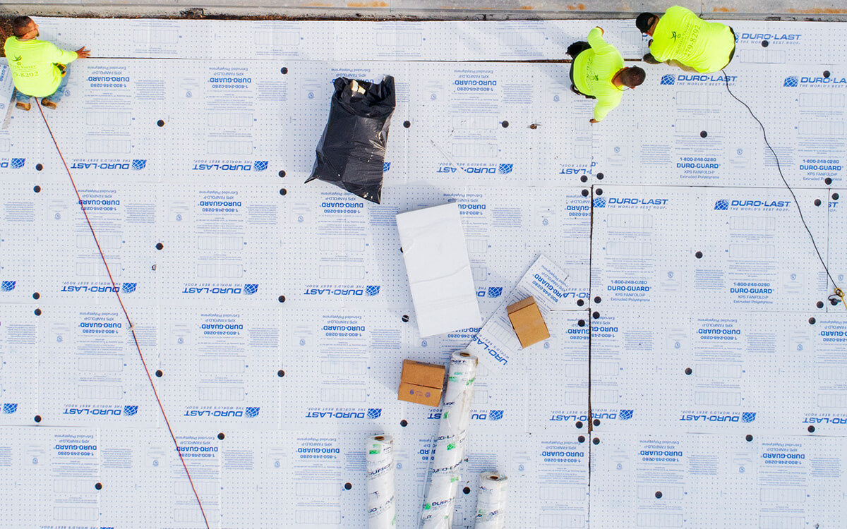 Commercial PVC Roof Durolast Durotuff Membrane Installation - San Antonio, TX - 08