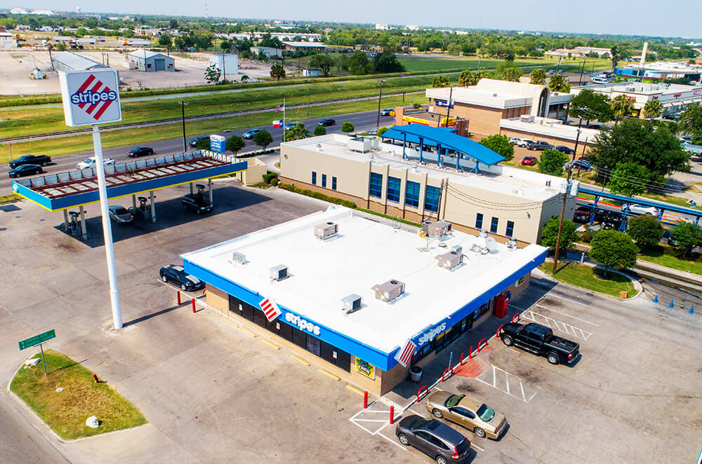 Commercial PVC roof membrane installation by McAllen Valley Roofing - San Antonio, TX - 001
