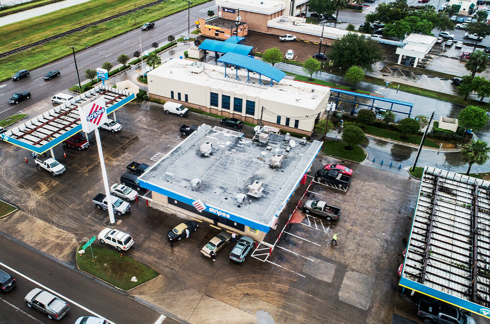 Commercial PVC roof membrane installation by McAllen Valley Roofing - San Antonio, TX - 002
