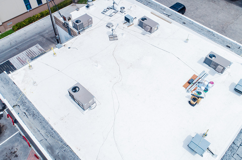 Commercial PVC roof membrane installation by McAllen Valley Roofing - San Antonio, TX - 004