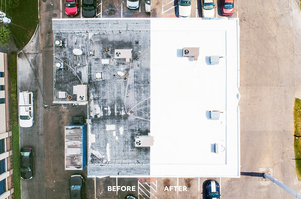 Commercial PVC roof membrane installation by McAllen Valley Roofing - San Antonio, TX - 006