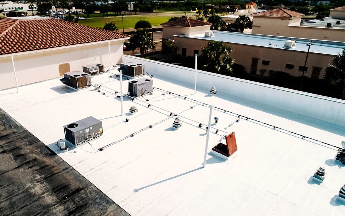Commercial Silicone Roof Coating Installation - San Antonio, TX - 02