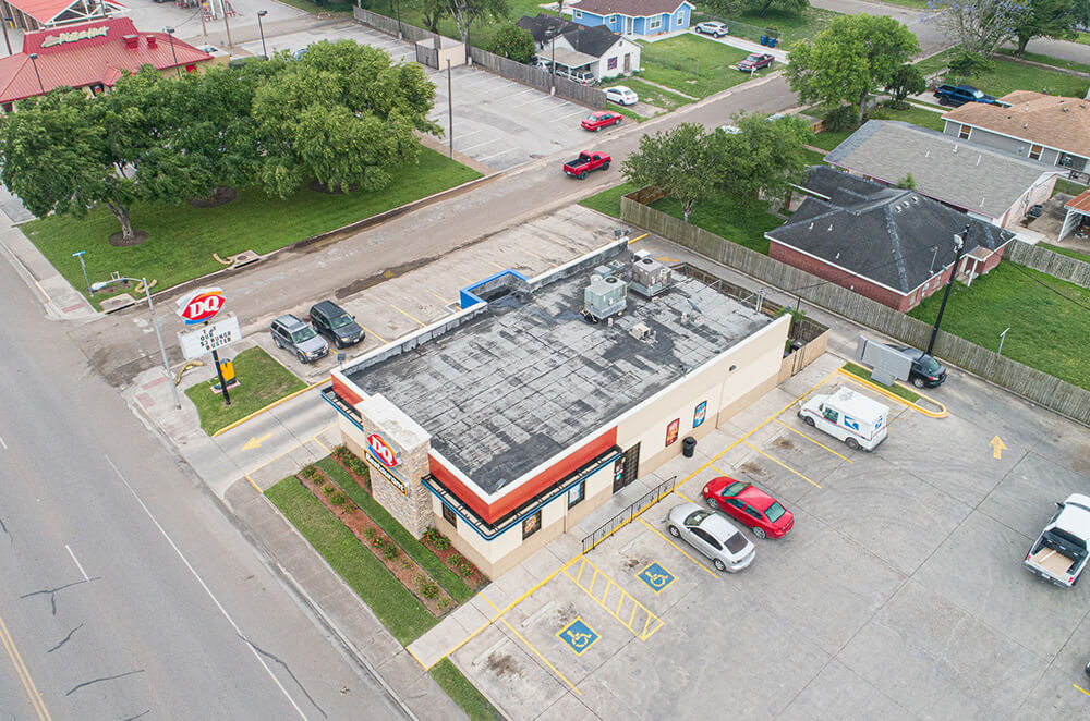 Dairy Queen silicone roof coating restoration and installation by McAllen Valley Roofing - San Antonio, TX - 002