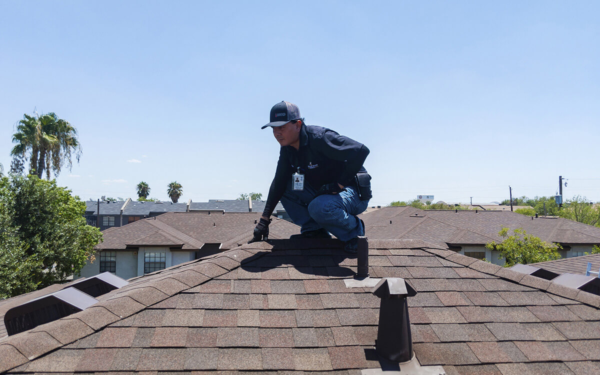 McAllen Valley project manager conducting a residential roof home inspection - San Antonio Texas D
